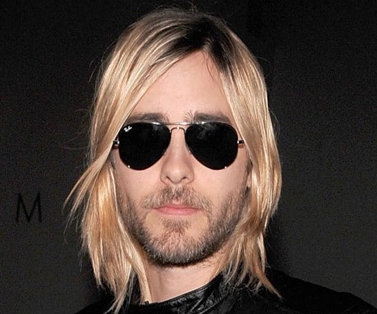 Jared Leto in 17 Years - Jared Leto - 2009: Blonde with straggling bangs..thank god the Ray Bans make you look good