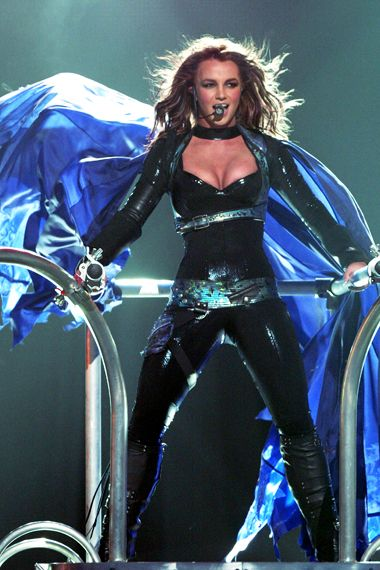 Best Of Britney - Old School - Britney Spears performs onstage on March 28, 2004, in Miami.