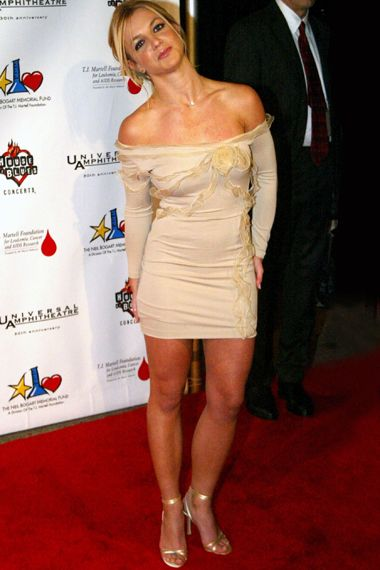 Best Of Britney - Old School - Britney Spears attends the The Neil Bogart Memorial Fund annual tour for a Cure concert on Nov. 4, 2002, in Hollywood.