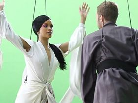 "Rihanna and Coldplay - Behind The Scenes ""Princess Of China"""