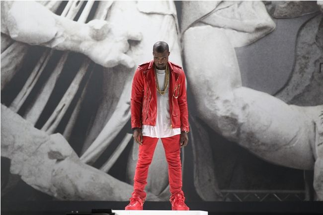 Kanye West's Style | 2011 - Bold and bright in red