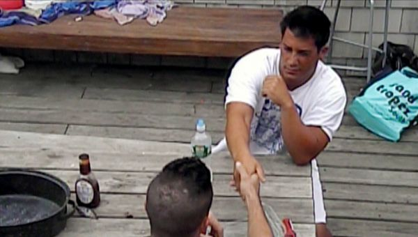 Jersey Shore (Season 5) | Ep.09 | One Meatball Stands Alone - Jionni and Mike decide to shake hands after Mike tells him about Snooki and his hook-up