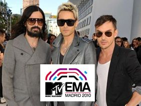 30 Seconds To Mars will peform at the EMA Red Carpet