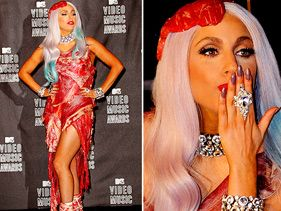 Gaga's meat dress: Was it Real?