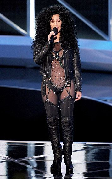 VMA Fashion | Barely There - 9.12.2010, Los Angeles, CA: Cher manages to 'Turn Back Time' as she rocks a see-through jumpsuit straight from the '80s.