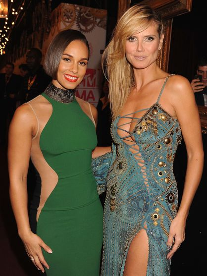 2012 MTV EMA | Backstage - Alicia Keys and Heidi Klum