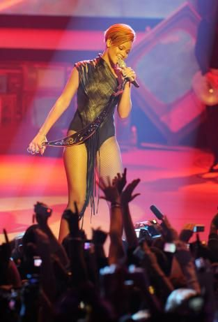 Sausy RiRi Unleashed! No Limit to her Sexinesssss! - Rihanna performing at Brixton Academy in London