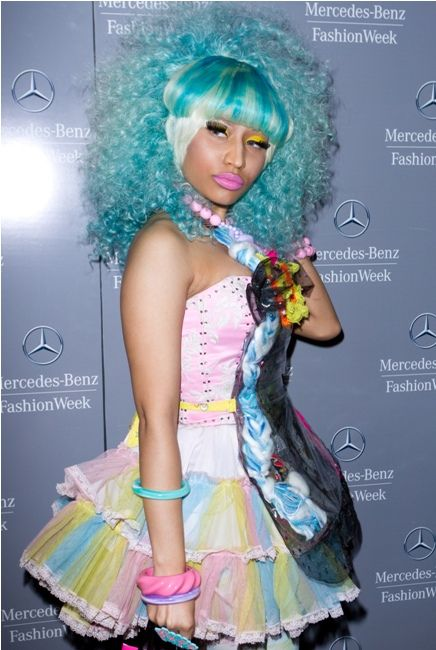 Nicki Minaj's Candy Look at NY Fashion Week! Yum Yum.... - New York Fashion Week, Lincoln Center - Day 5 - Spring 2012 look