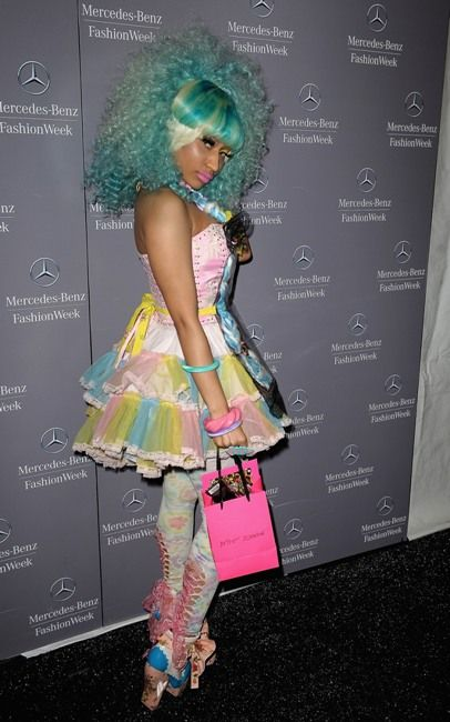Nicki Minaj's Candy Look at NY Fashion Week! Yum Yum.... - New York Fashion Week, Lincoln Center - Spring 2012 look