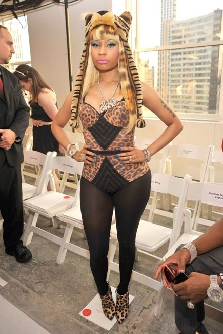 Nicki Minaj's Candy Look at NY Fashion Week! Yum Yum.... - New York Fashion week- Oscar De La Renta - Front Row & Back stage