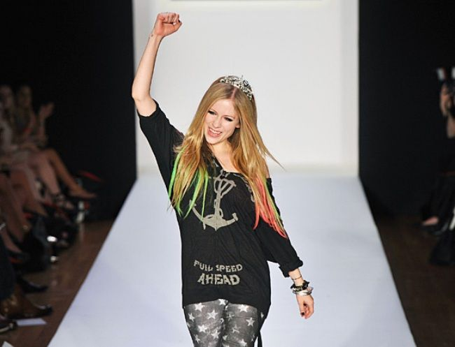 MTV's Picks on The Most Outrageous, Fun, Quirky and Crrrazy Fashion Moments of 2011 so Far - Avril Lavigne's Abbey Dawn Show still sporting the baggy tomboy look