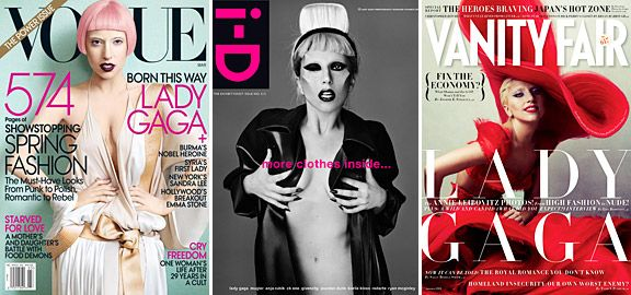 BEST OF 2011| MAGAZINE COVERS - 2) Lady Gaga on the cover of 'Vogue,' 'i-D,' and 'Vanity Fair'