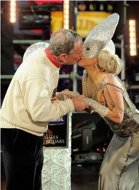 You Won't Believe Who Gaga Kissed To Kick Off 2012???