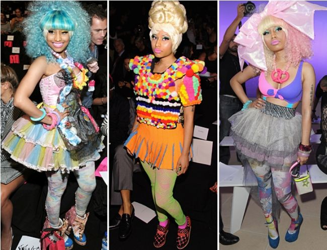 MTV's Picks on The Most Outrageous, Fun, Quirky and Crrrazy Fashion Moments of 2011 so Far - A Gallery Of Nicki Minaj's Bananas Fashion Week Outfits (New York Fashion Week)
