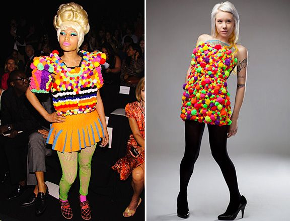 MTV's Picks on The Most Outrageous, Fun, Quirky and Crrrazy Fashion Moments of 2011 so Far - Did Nicki Minaj Copy This Unknown When She Had Her Fashion Week Dress Made? (New York Fashion Week)