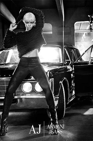 A Platinum Blonde Rihanna Stips Down For Emporio Armani Underwear And Armani Jeans - Hotttt!