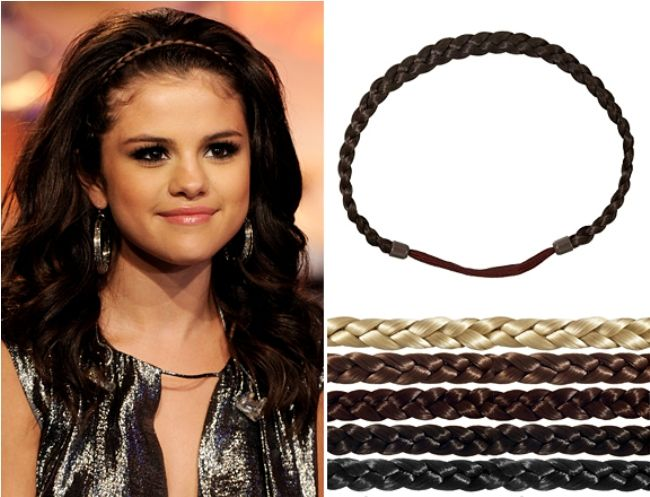 MTV's Picks on The Most Outrageous, Fun, Quirky and Crrrazy Fashion Moments of 2011 so Far - Get Selena Gomez's Braided Headband Look For $10