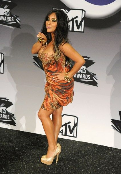 Jersey Shore Then & Now - Totally working this look at the 2011 VMA's