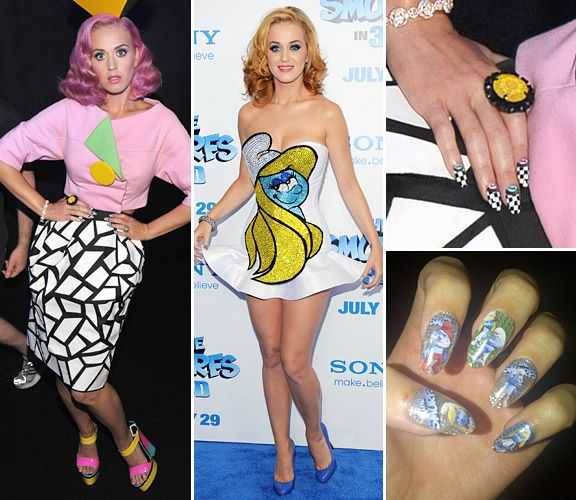 Funky Celeb Nails - Katy Perry