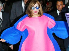 Lady Gaga Addresses Fat Haters with Oven Mitt Custom Dress