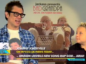 MTV DAILY VIDEO NEWS - Oct 15 : Britney's Names New Album , Kings Of Leon and Food and Grandpa Jackass!!