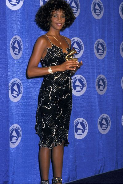 Whitney Houston - Pop Diva - Dead - Whitney Houston at the 30th Annual Grammy Awards in New York City 1988