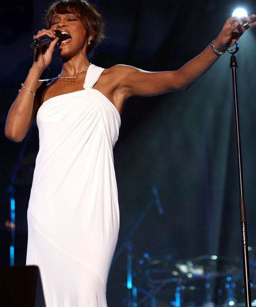 Whitney Houston - Pop Diva - Dead - Whitney Houston performs during the Annual Plymouth Jazz Festival in April 2008