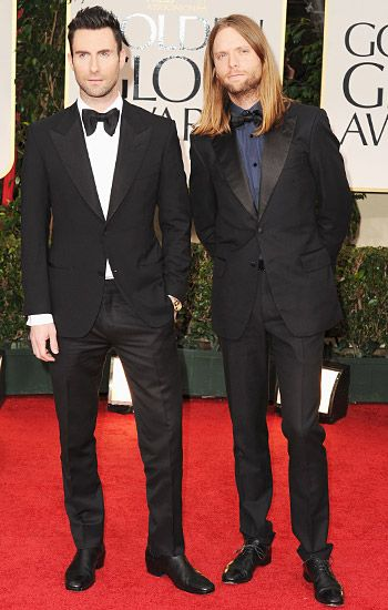 Golden Globe 2012 | Red Carpet Highlights - Adam Levine