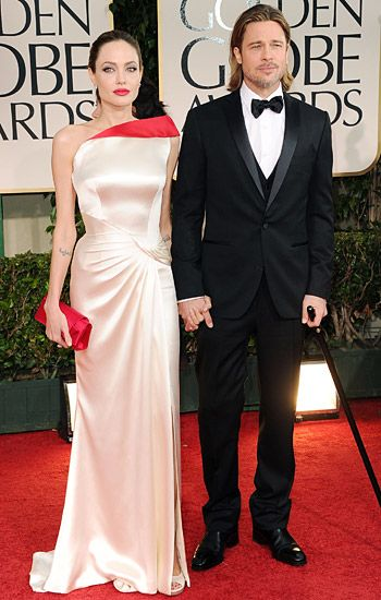Golden Globe 2012 | Red Carpet Highlights - Angelina Jolie & Brad Pitt