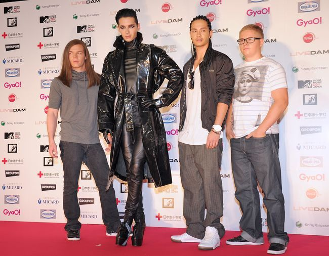 Tokio Hotel - What Are They Up To? - Tom Kaulitz, Gustav Schafer, Bill Kaulitz and Georg Listing on the red carpet at the MTV Japan Video Music Aid Awards at Makuhari Messi on June 25, 2011 from Chiba, Japan.