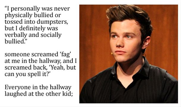 10 Top Pop Stars Bullied As A Kid - Chris Colfer