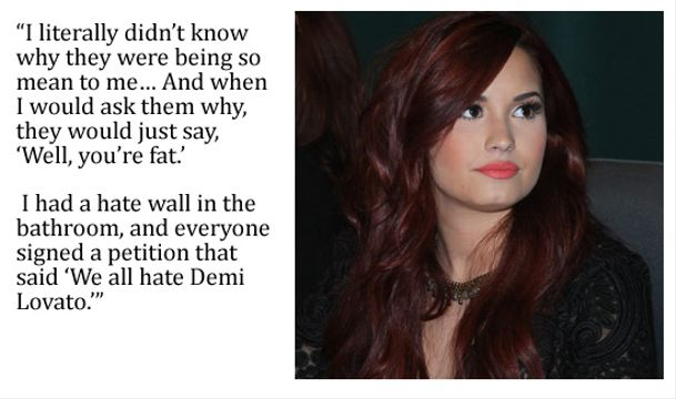 10 Top Pop Stars Bullied As A Kid - Demi Lovato