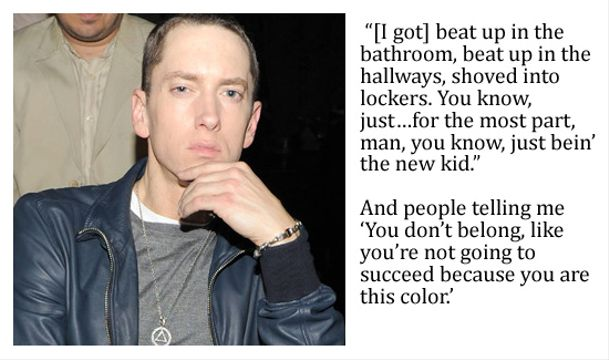 10 Top Pop Stars Bullied As A Kid - Eminem