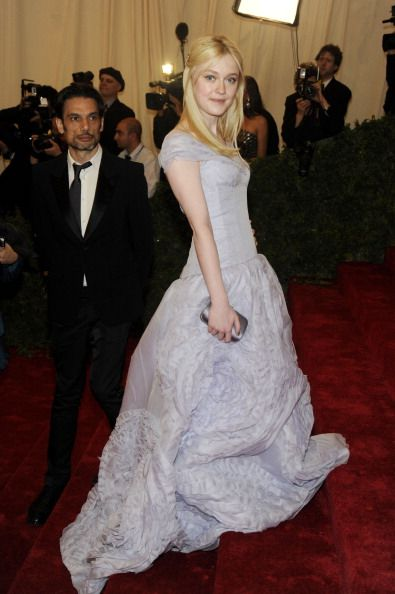 Celebrity Fashion Police at 2012 Met Gala - Dakota Fanning in Louis Vuitton - Uhmm we don't like it