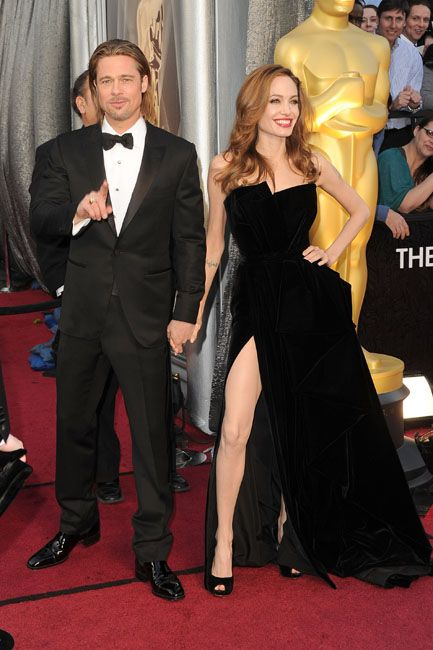 2012 Oscar Highlights - Angelina Jolie and Brad Pitt steal the carpet at the Oscars