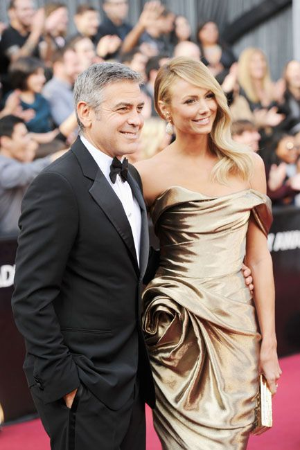 2012 Oscar Highlights - George Clooney and girlfriend