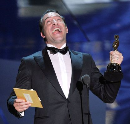 2012 Oscar Highlights - Jean Dujardin wins for Best Actor at the 2012 Oscars
