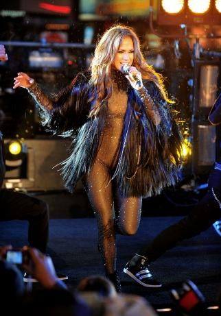 JLo's Smokkkkinnnn Catsuit Look - Performance in New York on New Years Eve 2010
