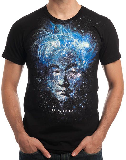 Top 25 Tees - Hot Looks! - The Imaginary Foundation bring us a chic line of Physics and Astronomy T's with this Dr. Michio Kaku tee turning theoretical physics into a blockbuster.