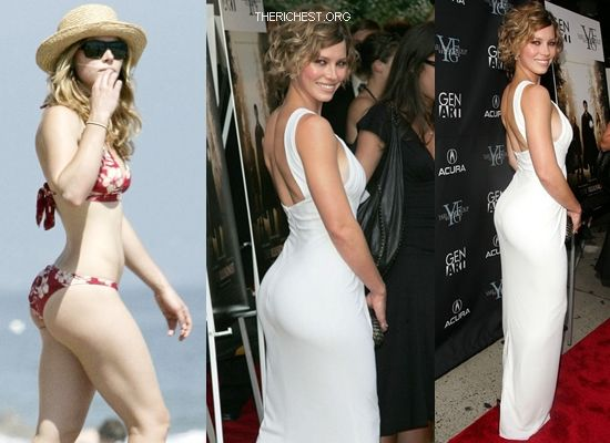 Biggest Celebrity Bootilicious Butts In Hollywood - Jessica Biel - well someone has to be last. The least gravity defying butt around Jessica Biel just makes the cut.