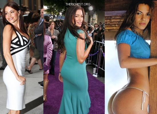 Biggest Celebrity Bootilicious Butts In Hollywood - Sophia Vergara - the most voluptuous wife on TV in Modern Family Sophia simply has curves that run from one place to another seamlessly.