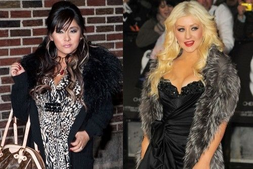 Snooki Is Secret Twin Of Christina Aguilera - You know they are both dying to say ..grrhhh