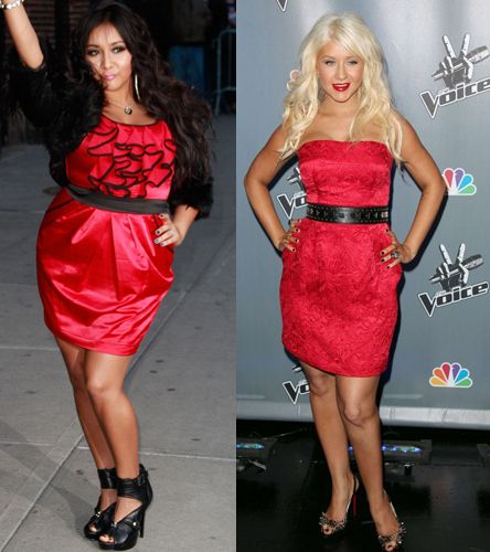 Snooki Is Secret Twin Of Christina Aguilera - Side By Side Comparisons are eerie..