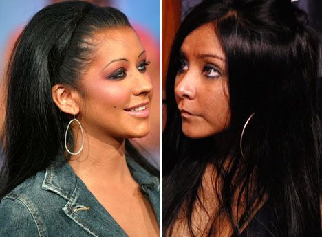 Snooki Is Secret Twin Of Christina Aguilera - If with add to Christina a few kgs and shed a few from Snooki I think we have a match