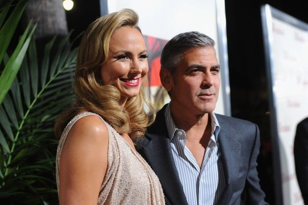 Happy 51st Birthday George - With girlfriend Stacy Keibler at the premiere of