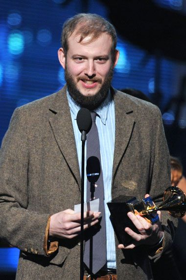 2012 Grammy Award Highlights - Justin Vernon of Bon Iver accepts the 2012 Grammy Award for Best New Artist.