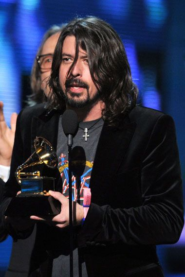 2012 Grammy Award Highlights - Dave Grohl and the Foo Fighters win the 2012 Grammy Award for Best Rock Performance