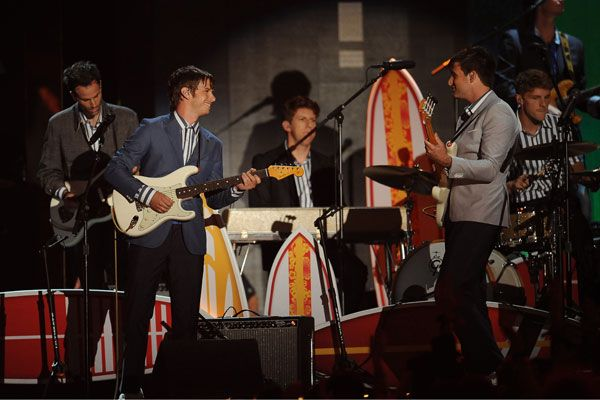 2012 Grammy Award Highlights - Foster The People pay tribute to the Beach Boys at the 2012 Grammys