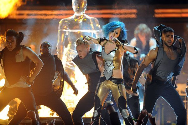2012 Grammy Award Highlights - Katy Perry performing her new song