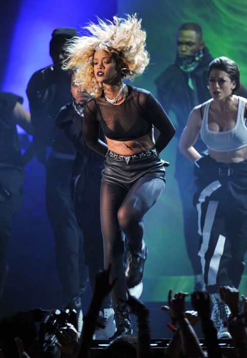 2012 Grammy Awards Performances - Rihanna performing 